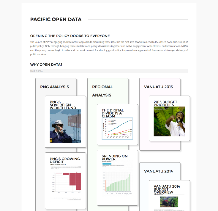 Pacific Institute of Public Policy Datacenter and Open Data Initiative